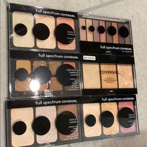 6 Brand new CoverGirl palettes
